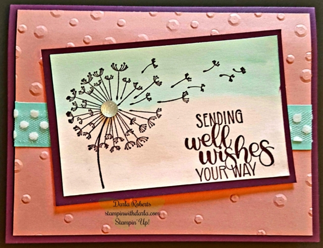card made with Dandelion  wishes